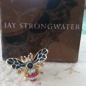 Jay Strongwater Nigel Bumblebee Brooch Pin w/ box
